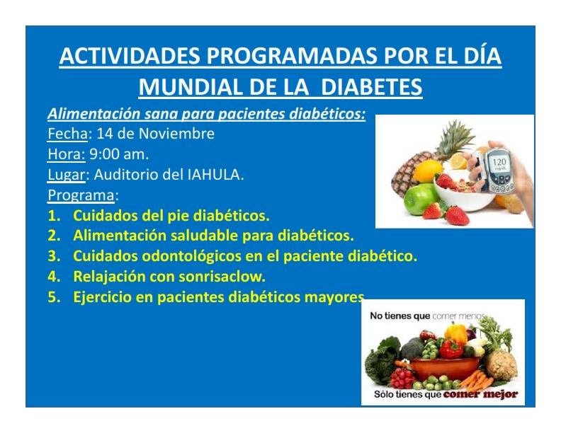 presentaciones de revistas de cuidado de la diabetes